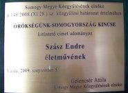 Örökségünk Somogyország Kincse Emléktábla
